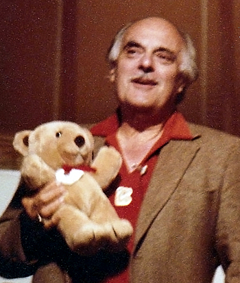 Marcel Vogel with His Famous Teddy Bear