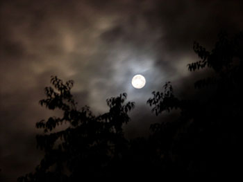 Full Moon Over Claverack, NY, photo by Jane Sherry