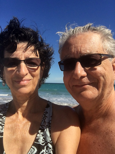 Curtis and Jane at South Beach Park in Boca Raton, Florida