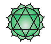 Anahata Chakra: https://commons.wikimedia.org/wiki/File:Chakra04.png -- The copyright holder of this image hereby irrevocably releases all rights to it, allowing it to be freely reproduced, distributed, transmitted, used, modified, built upon, or otherwise exploited in any way by anyone for any purpose, commercial or non-commercial.