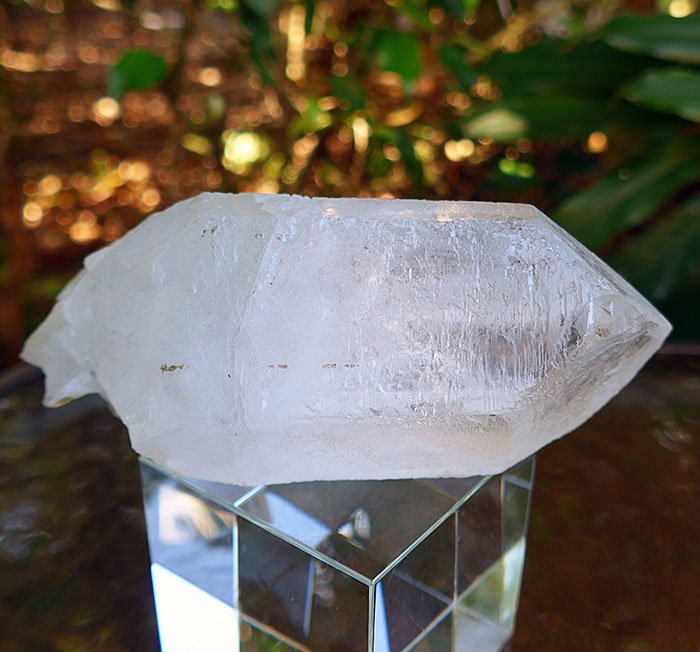 King Lemurian Trigonal Quartz Channeling Wand