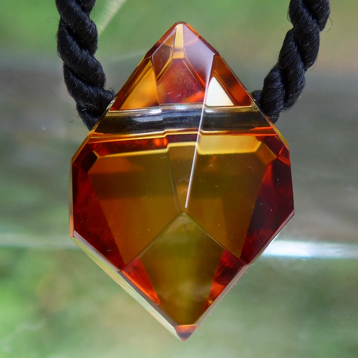Orange Glow Citrine Pendant by Lawrence Stoller