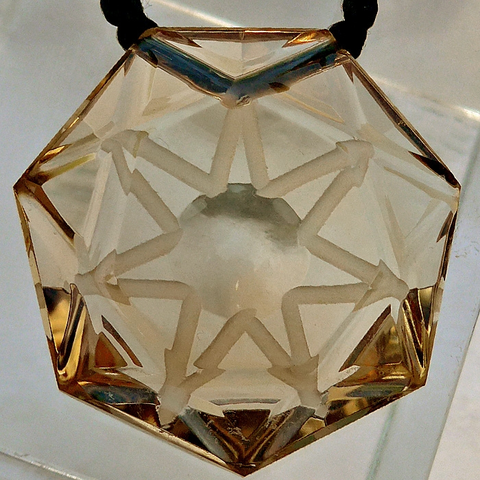 7 Sided Star Citrine Medallion by Lawrence Stoller