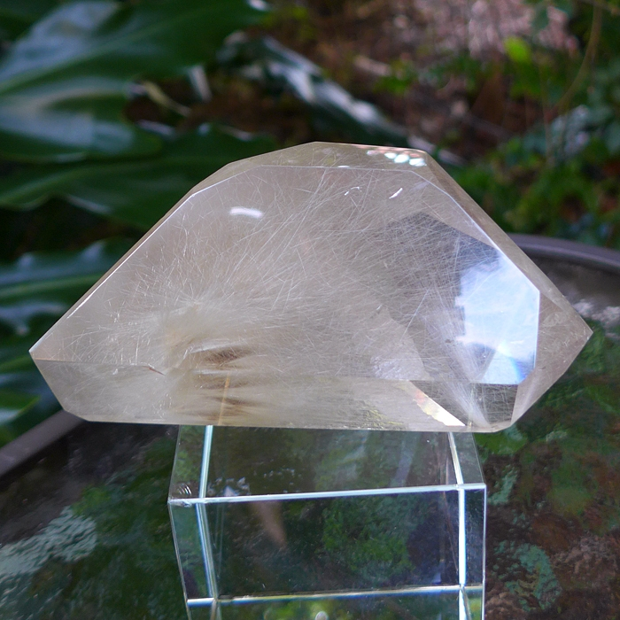 Rutile Lemurian Starburst Reclining Point