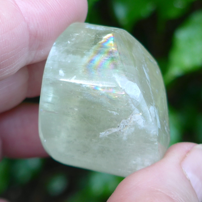 Pale Green Polished Kunzite Gem