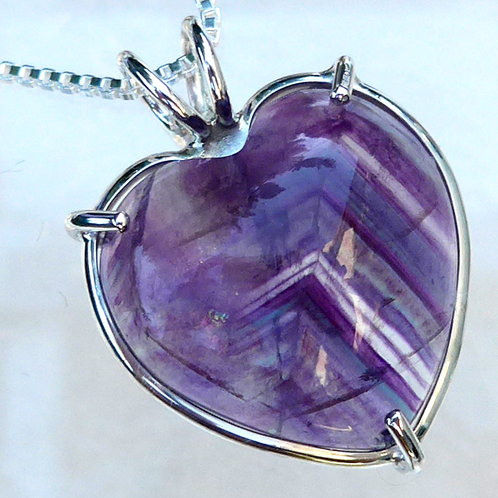 Purple Striped Fluorite Pendant