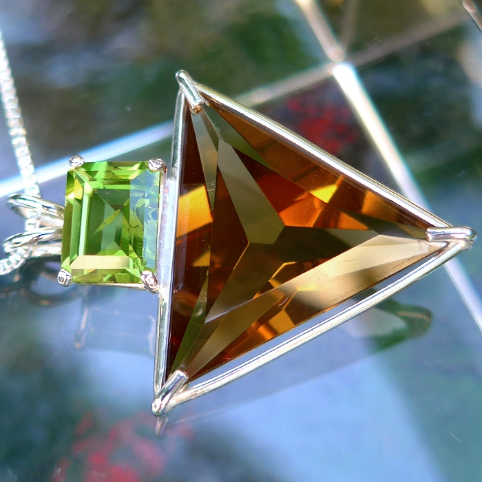 Citrine Angelic Star with Peridot Crown
