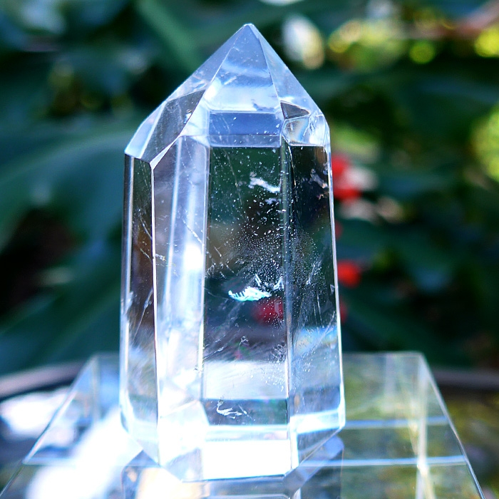Tall Small Isis Face John of God Crystal by Lawrence Stoller