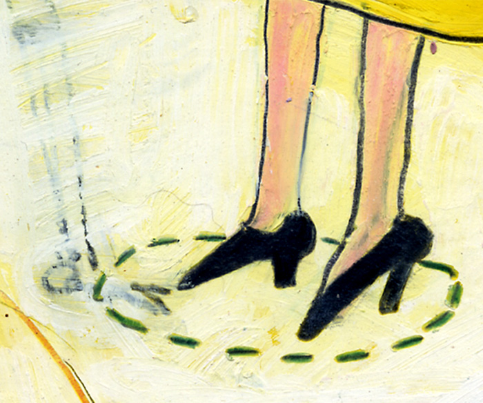 Detail from Death Joins the Weird Sisters at the Dance