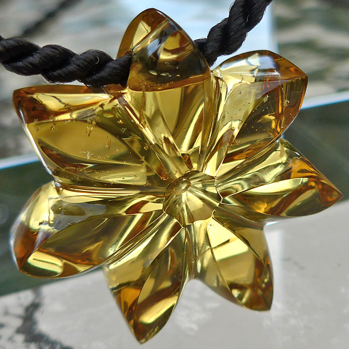 Citrine 7-Petal Flower of Isis Pendant
