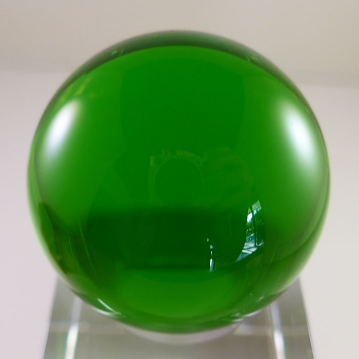 Large Tibetan Green Obsidian Sphere