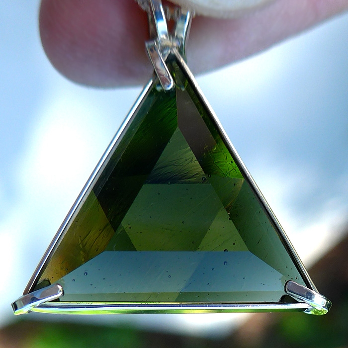 Moldavite Star of David Pendant