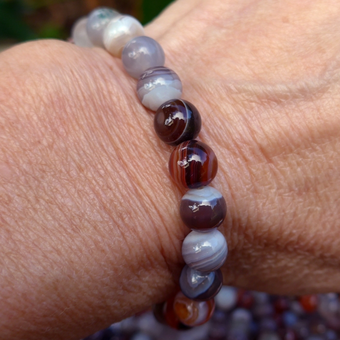 Earth and Sky Tones Botswana Agate Power Beads