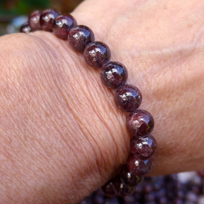 Multi-Hued Garnet Power Beads