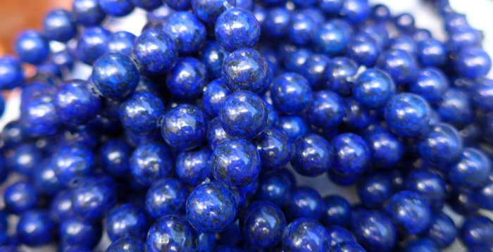 Deep Blue Lapis Power Beads