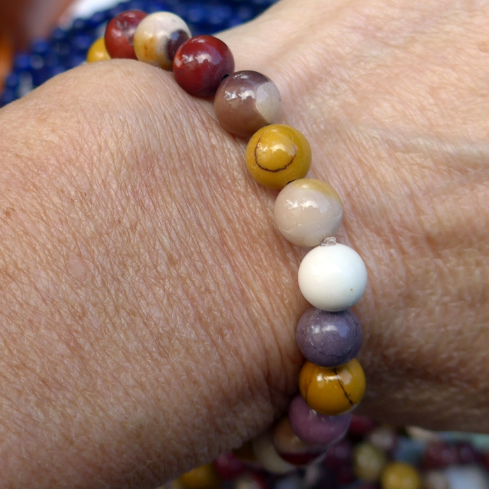 Mookaite Jasper Power Beads Bracelet