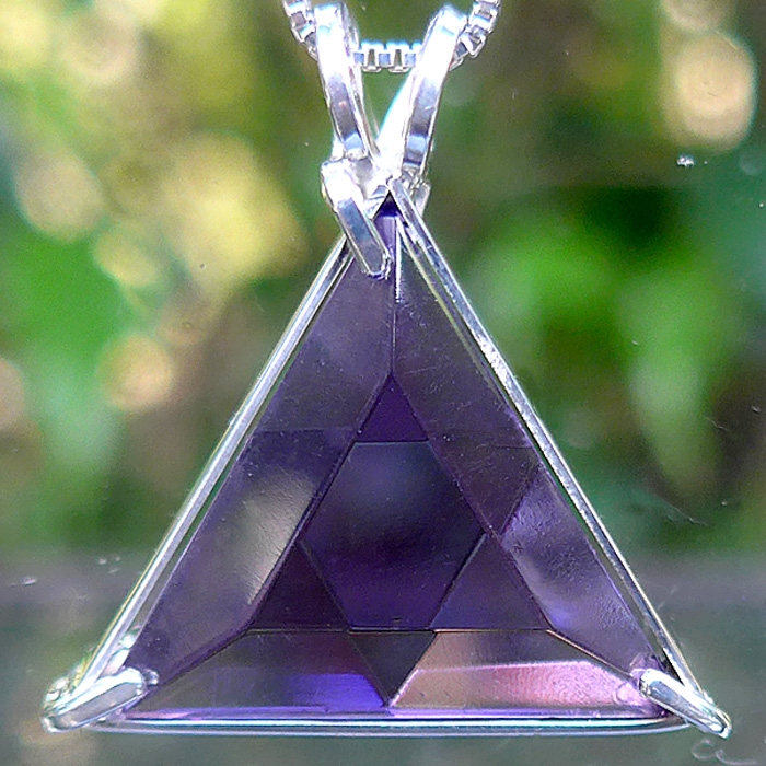 Small Siberian Purple Star of David Pendant