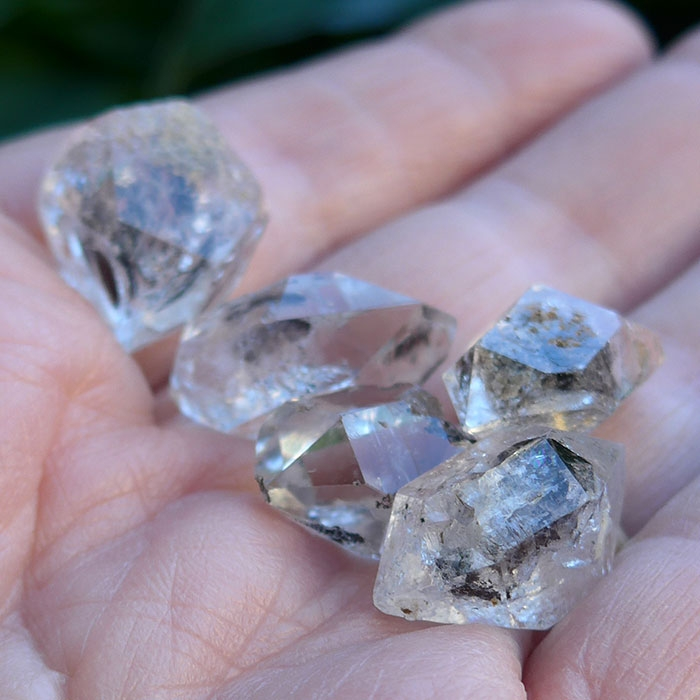 Pakistani Herkimer Diamonds with Hydrocarbons