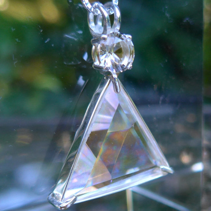 Angel Aura Star of David Pendant with John of God Quartz Crown