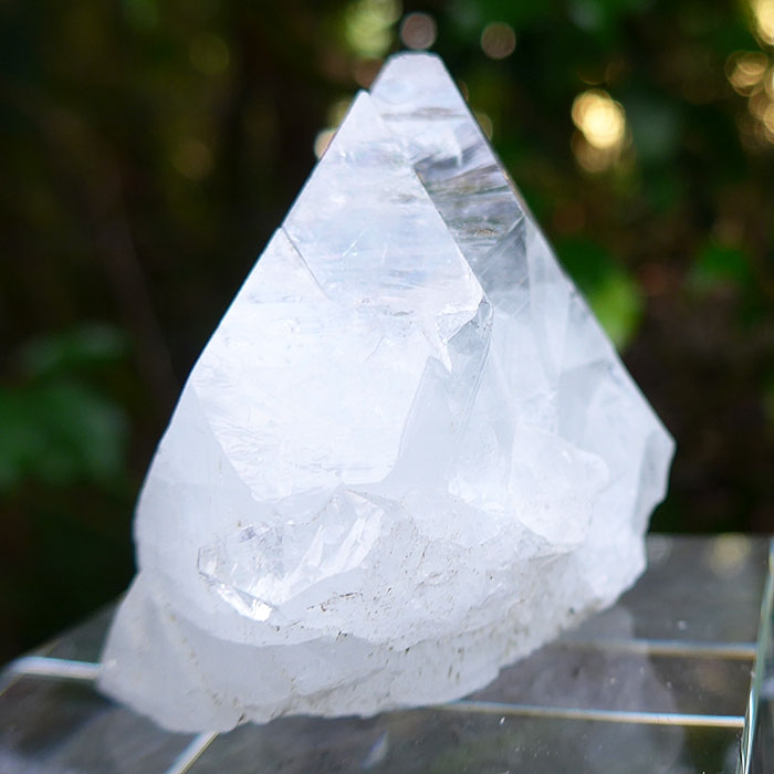 Large Brilliant Double Point Apophyllite Pyramid