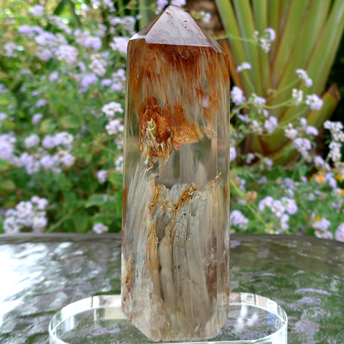 Striped Actinolite Quartz Altar Wand