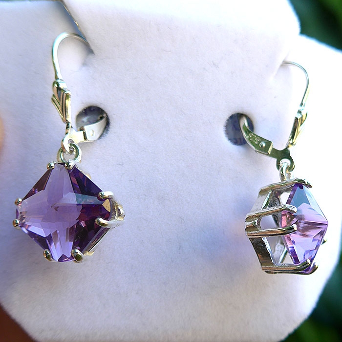 Amethyst Magician Stone Hanging Earrings