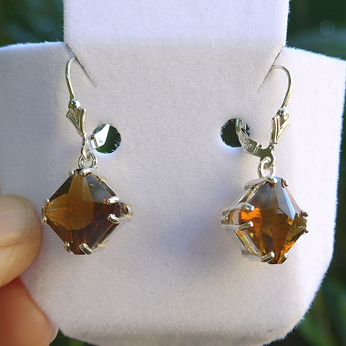 Citrine Magician Stone Hanging Earrings