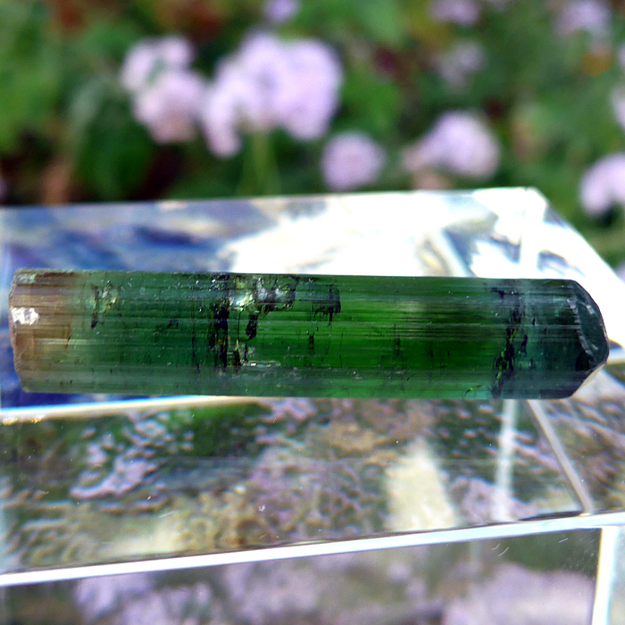 Tricolor Tourmaline Gemstone Rod