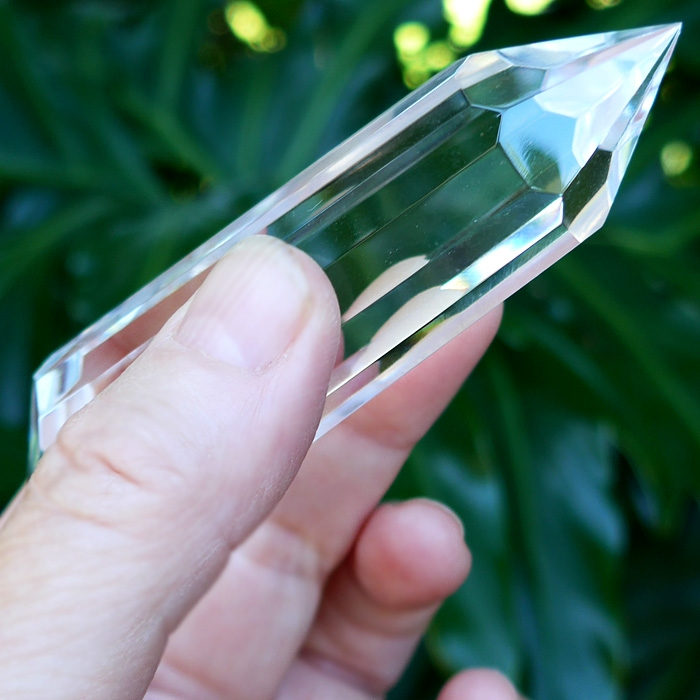Water-Clear 14 sided Mini-Vogel Wand