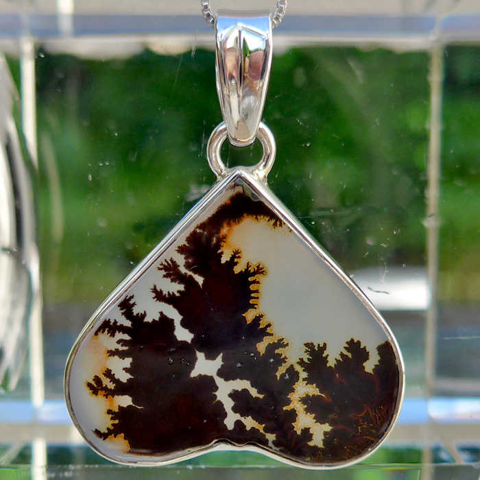 Dendritic Quartz Heart Pendant