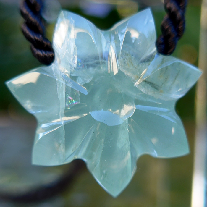 Rainbow Aquamarine Flower of Isis by Lawrence Stoller
