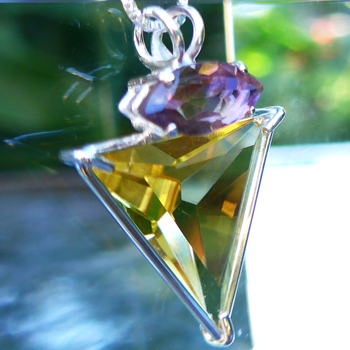 Sibrian Gold Quartz Angelic Star with Ametrine