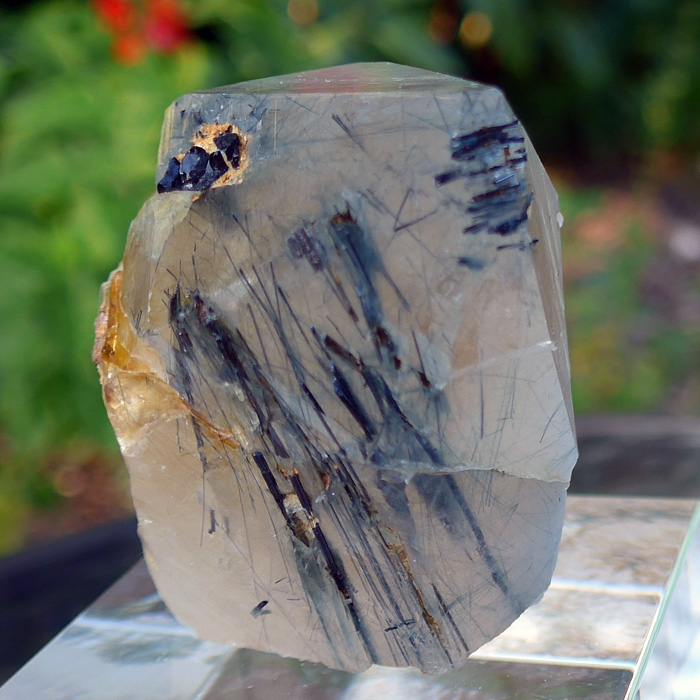 Large DT Citrine Indigo Quartz Point