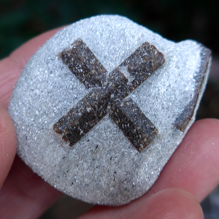 Stunning Two Sided St. George's Staurolite Cross