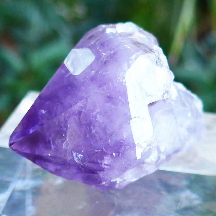 Amethyst Scepter with Calcite