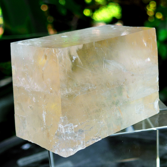 Giant Rhombohedron Orange Calcite