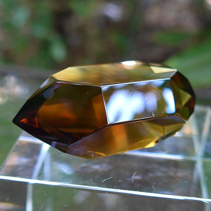 Smoky Citrine Double Dow Healing Wand by Lawrence Stoller