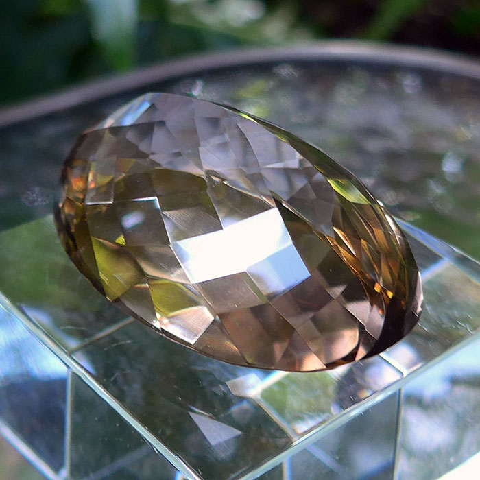 Smoky Citrine Oval Gemstone