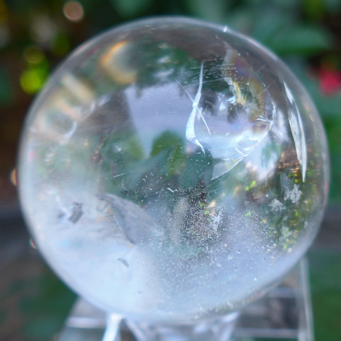 Clear Quartz Sphere with Fairy Veils