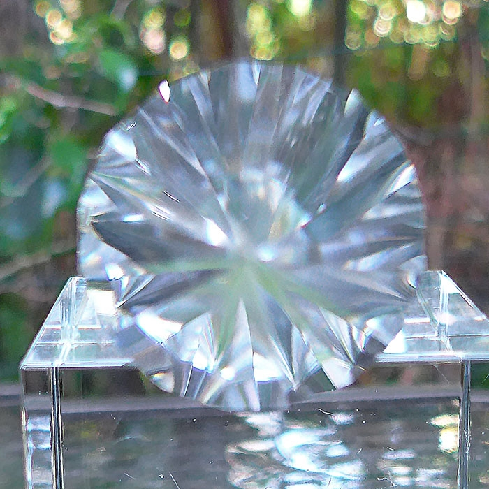 Long Water Clear 16 Sided Vogel Phi Crystal Healing Wand