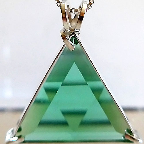 Star of David Tibetan Green Pendant